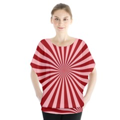 Sun Background Optics Channel Red Blouse
