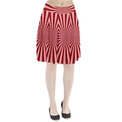 Sun Background Optics Channel Red Pleated Skirt