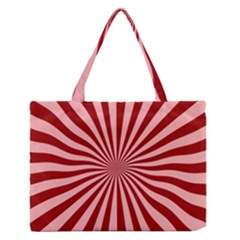 Sun Background Optics Channel Red Medium Zipper Tote Bag