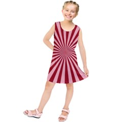 Sun Background Optics Channel Red Kids  Tunic Dress