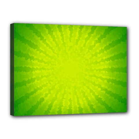 Radial Green Crystals Crystallize Canvas 16  X 12