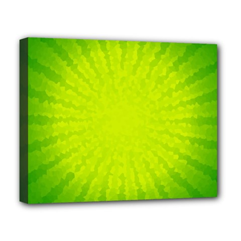 Radial Green Crystals Crystallize Deluxe Canvas 20  x 16