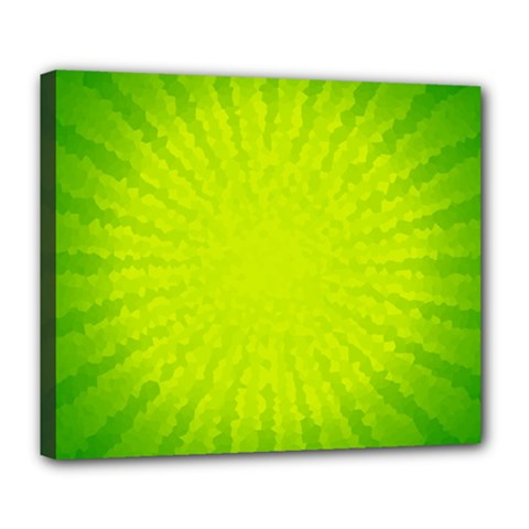 Radial Green Crystals Crystallize Deluxe Canvas 24  X 20