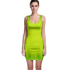 Radial Green Crystals Crystallize Sleeveless Bodycon Dress