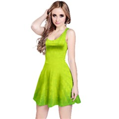Radial Green Crystals Crystallize Reversible Sleeveless Dress