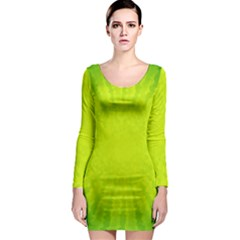 Radial Green Crystals Crystallize Long Sleeve Bodycon Dress
