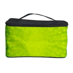 Radial Green Crystals Crystallize Cosmetic Storage Case