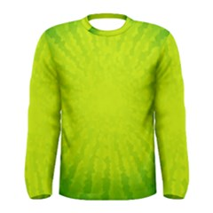 Radial Green Crystals Crystallize Men s Long Sleeve Tee