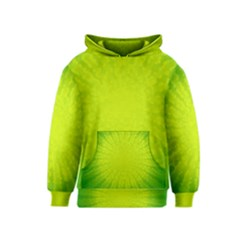 Radial Green Crystals Crystallize Kids  Pullover Hoodie