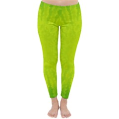 Radial Green Crystals Crystallize Classic Winter Leggings