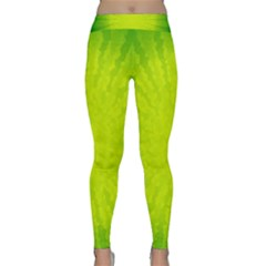 Radial Green Crystals Crystallize Classic Yoga Leggings