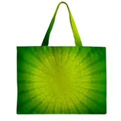 Radial Green Crystals Crystallize Zipper Mini Tote Bag