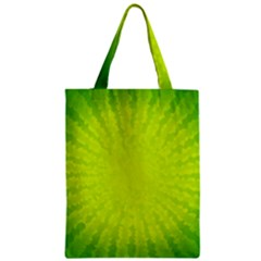 Radial Green Crystals Crystallize Zipper Classic Tote Bag