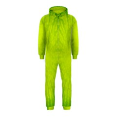 Radial Green Crystals Crystallize Hooded Jumpsuit (Kids)
