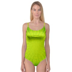 Radial Green Crystals Crystallize Camisole Leotard