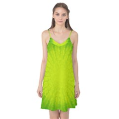 Radial Green Crystals Crystallize Camis Nightgown