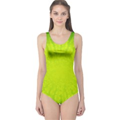 Radial Green Crystals Crystallize One Piece Swimsuit