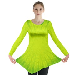 Radial Green Crystals Crystallize Long Sleeve Tunic