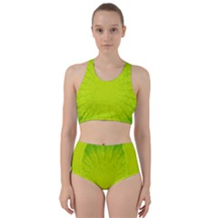 Radial Green Crystals Crystallize Bikini Swimsuit Spa Swimsuit