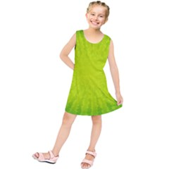 Radial Green Crystals Crystallize Kids  Tunic Dress