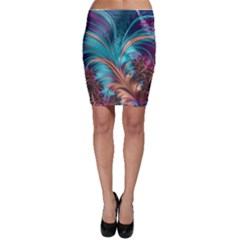 Feather Fractal Artistic Design Bodycon Skirt