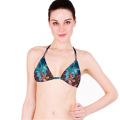 Feather Fractal Artistic Design Bikini Top
