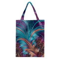Feather Fractal Artistic Design Classic Tote Bag