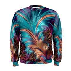 Feather Fractal Artistic Design Men s Sweatshirt
