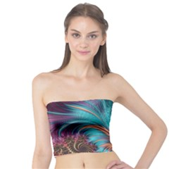 Feather Fractal Artistic Design Tube Top