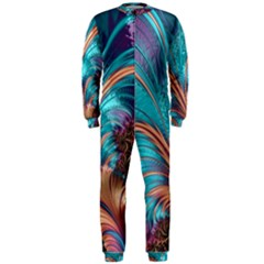 Feather Fractal Artistic Design OnePiece Jumpsuit (Men)