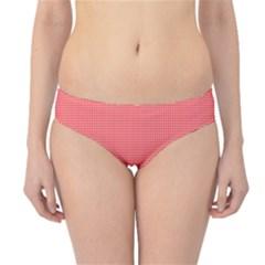 Christmas Red Velvet Mini Gingham Check Plaid Hipster Bikini Bottoms