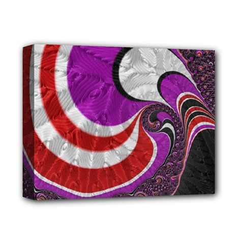 Fractal Art Red Design Pattern Deluxe Canvas 14  x 11