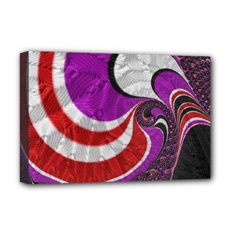 Fractal Art Red Design Pattern Deluxe Canvas 18  X 12