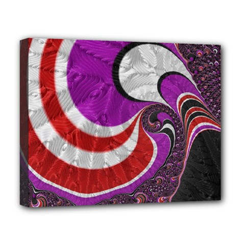 Fractal Art Red Design Pattern Deluxe Canvas 20  X 16