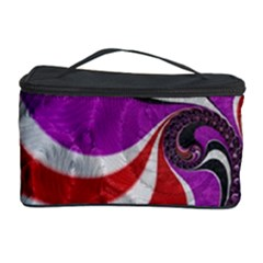 Fractal Art Red Design Pattern Cosmetic Storage Case