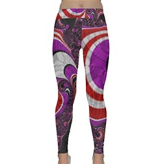 Fractal Art Red Design Pattern Classic Yoga Leggings