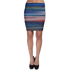 Background Horizontal Lines Bodycon Skirt