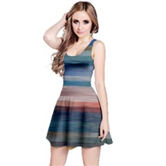 Background Horizontal Lines Reversible Sleeveless Dress
