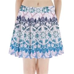 Mandalas Symmetry Meditation Round Pleated Mini Skirt