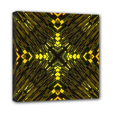 Abstract Glow Kaleidoscopic Light Mini Canvas 8  X 8