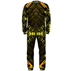 Abstract Glow Kaleidoscopic Light OnePiece Jumpsuit (Men)