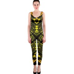 Abstract Glow Kaleidoscopic Light OnePiece Catsuit