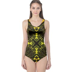 Abstract Glow Kaleidoscopic Light One Piece Swimsuit