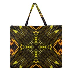 Abstract Glow Kaleidoscopic Light Zipper Large Tote Bag