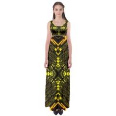 Abstract Glow Kaleidoscopic Light Empire Waist Maxi Dress