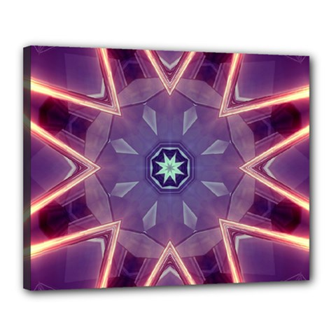 Abstract Glow Kaleidoscopic Light Canvas 20  x 16