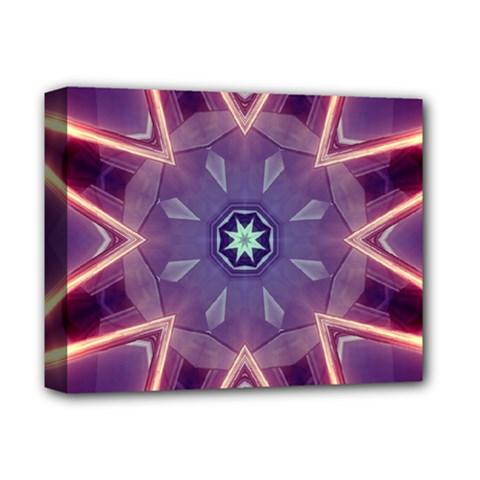 Abstract Glow Kaleidoscopic Light Deluxe Canvas 14  x 11