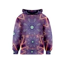 Abstract Glow Kaleidoscopic Light Kids  Pullover Hoodie