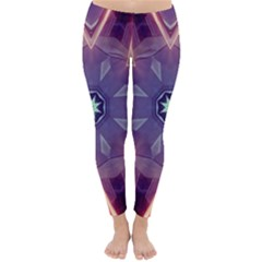 Abstract Glow Kaleidoscopic Light Classic Winter Leggings