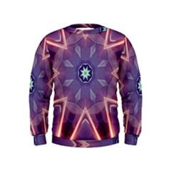 Abstract Glow Kaleidoscopic Light Kids  Sweatshirt